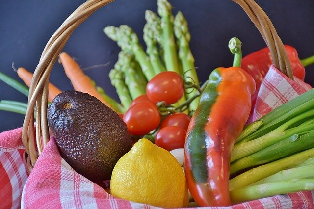 A bowl of fruit and vegetables